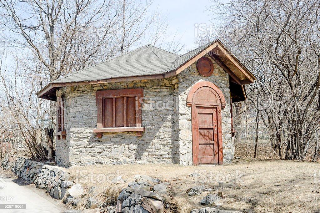Old house near Saint Joseph's Oratory stock photo