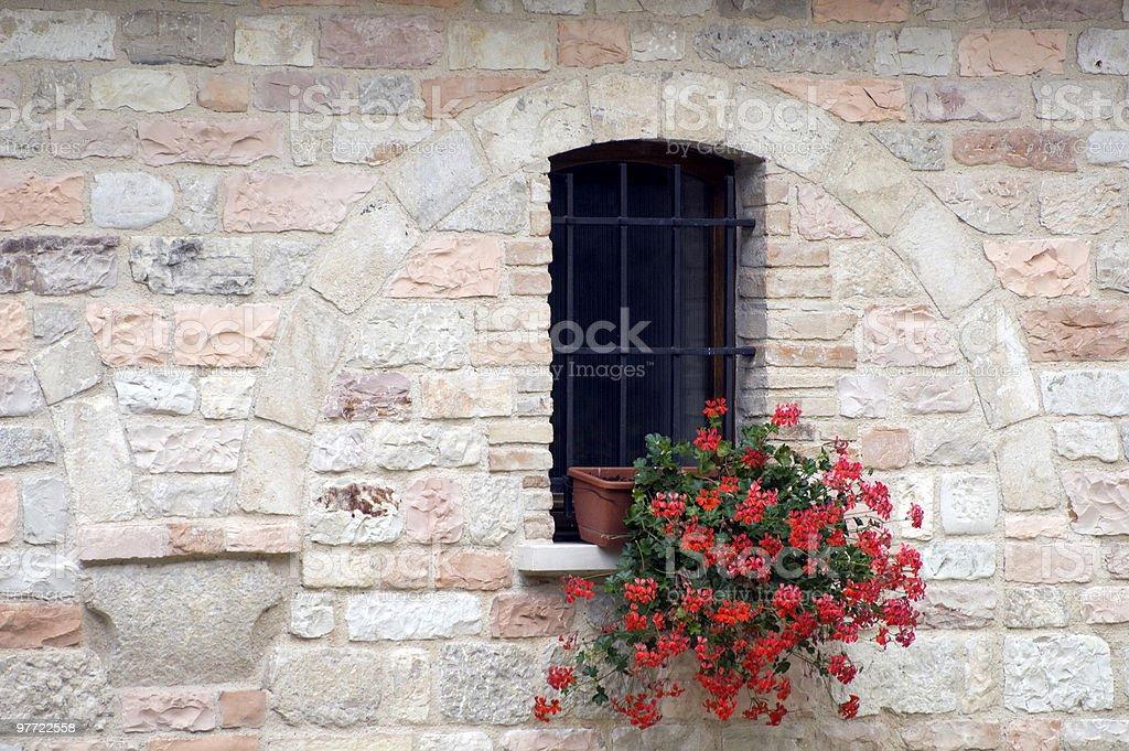 Old house near San Vincenzo al Furlo royalty-free stock photo