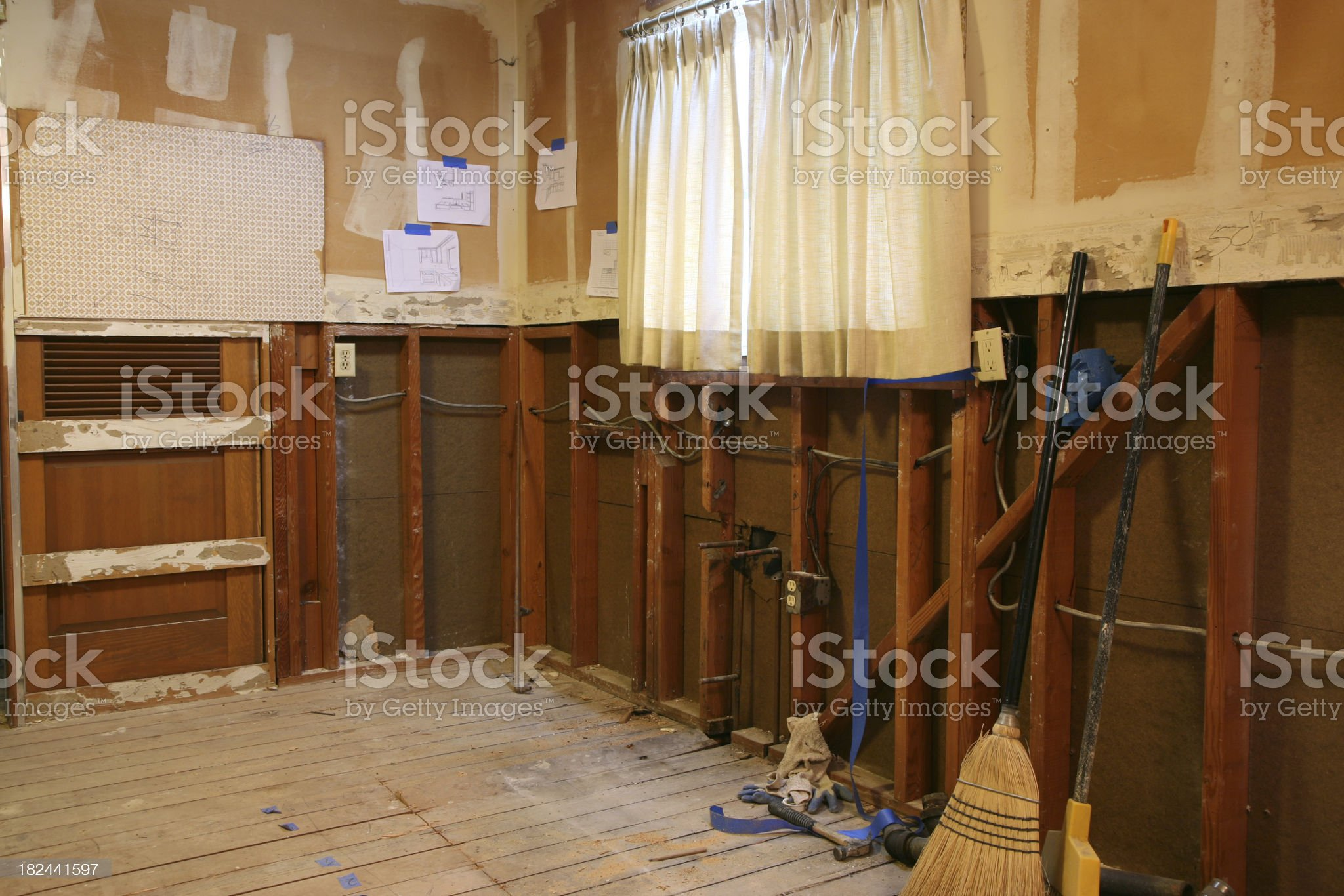 Old House Remodeling royalty-free stock photo