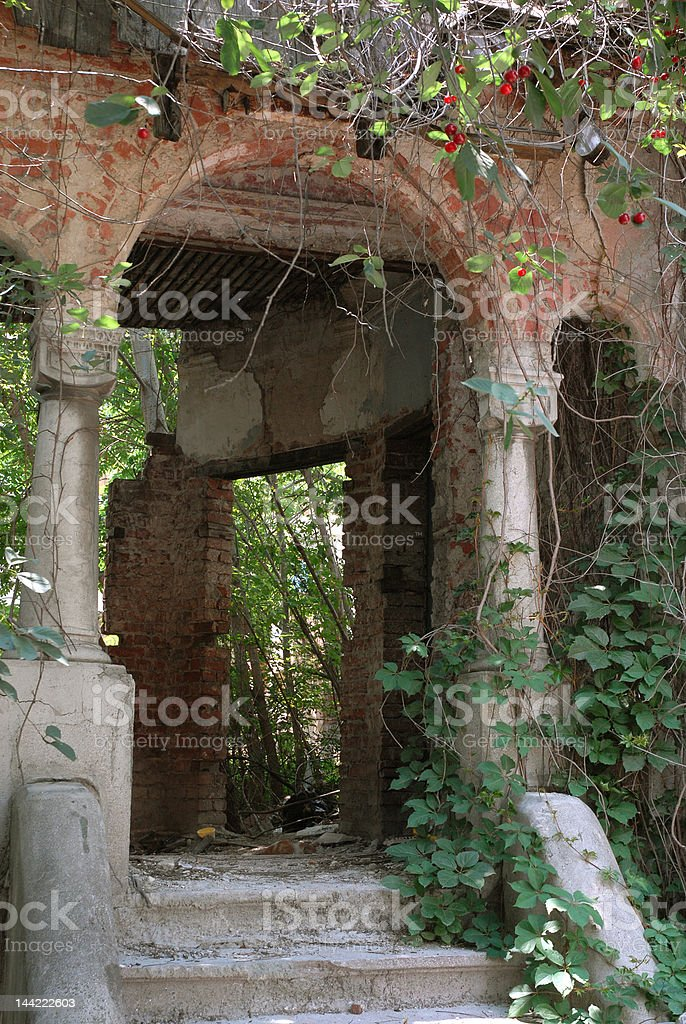 old house ruins royalty-free stock photo