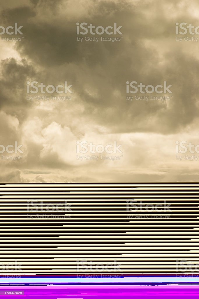 Old house under complete renovation with scaffolding royalty-free stock photo