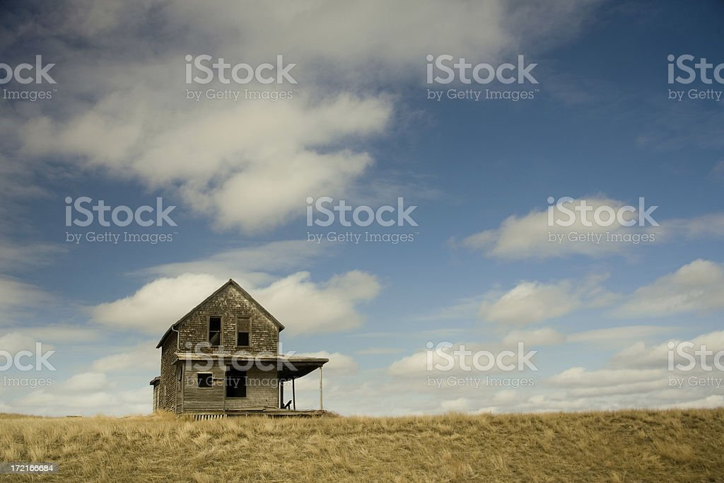 old house with space stock photo