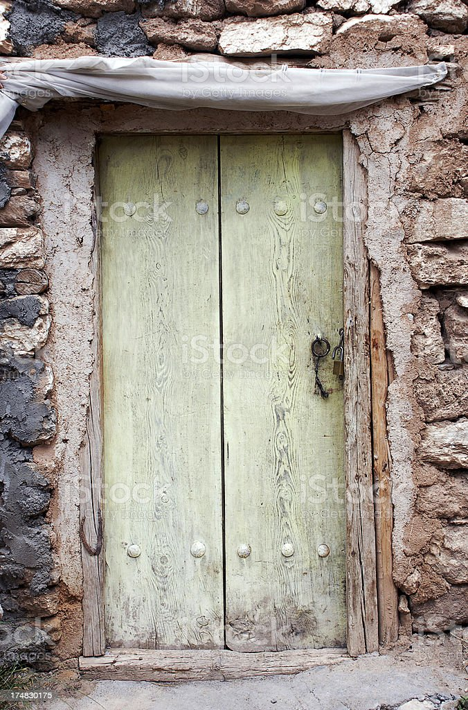 Old House Wooden Door royalty-free stock photo