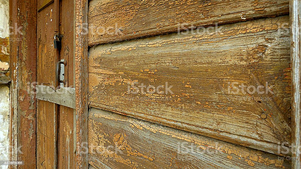 Old house wooden walls rich texture stock photo