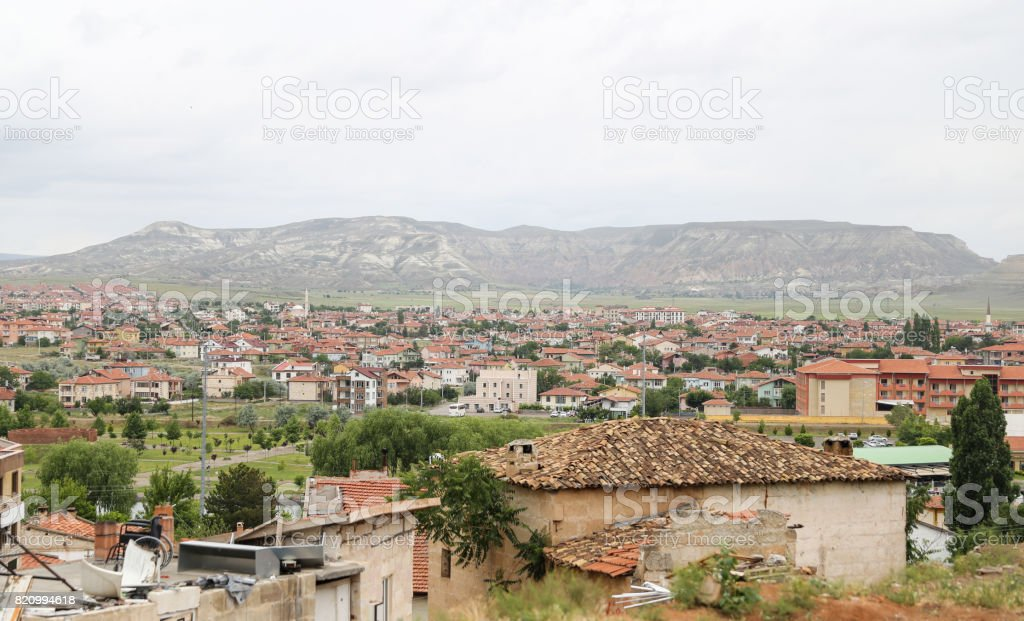 Old Houses in Avanos Town, Turkey stock photo