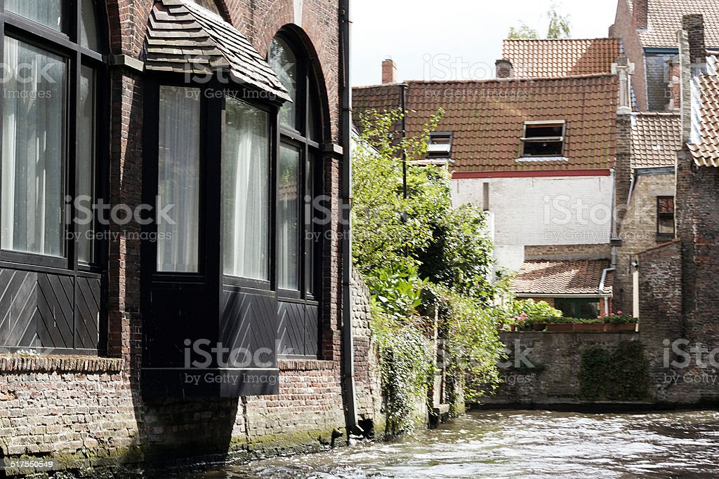 Vecchie case in Bruges foto stock royalty-free