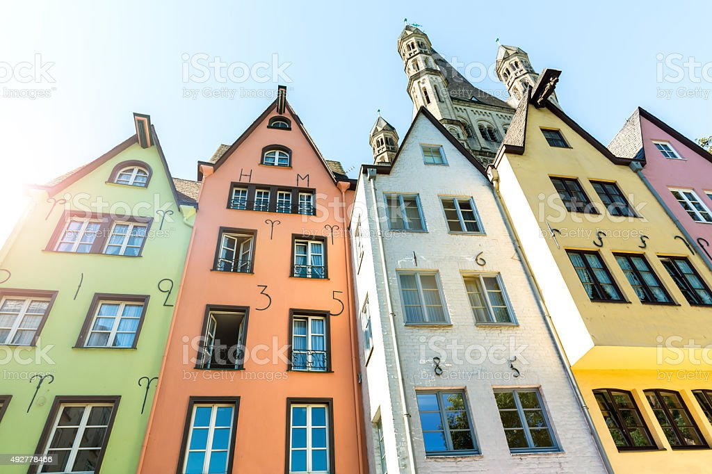 Old houses in Cologne stock photo