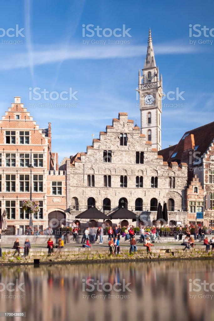 Old Houses In Ghent royalty-free stock photo