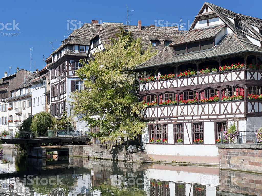 Old houses in Strasbour royalty-free stock photo