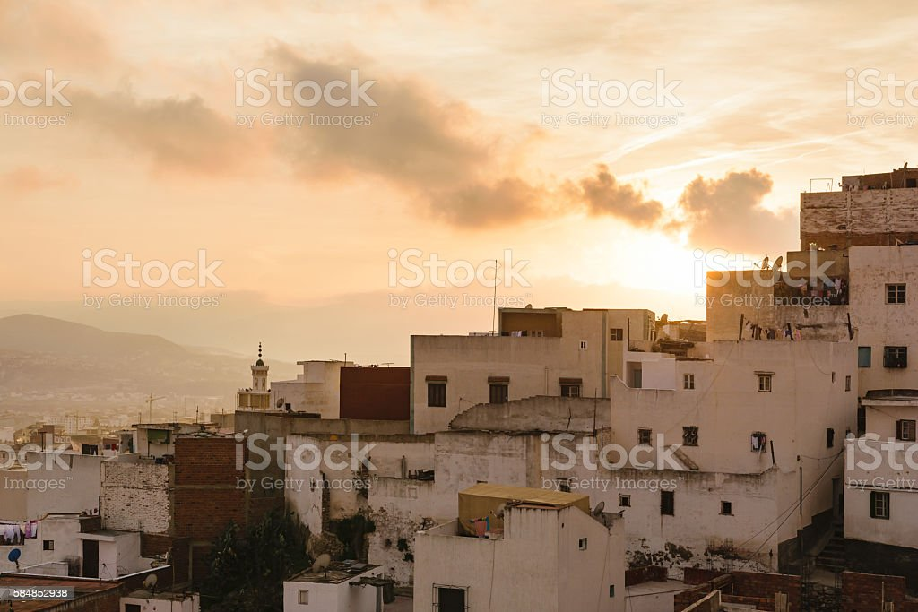Old houses in Tetouan, Morocco stock photo