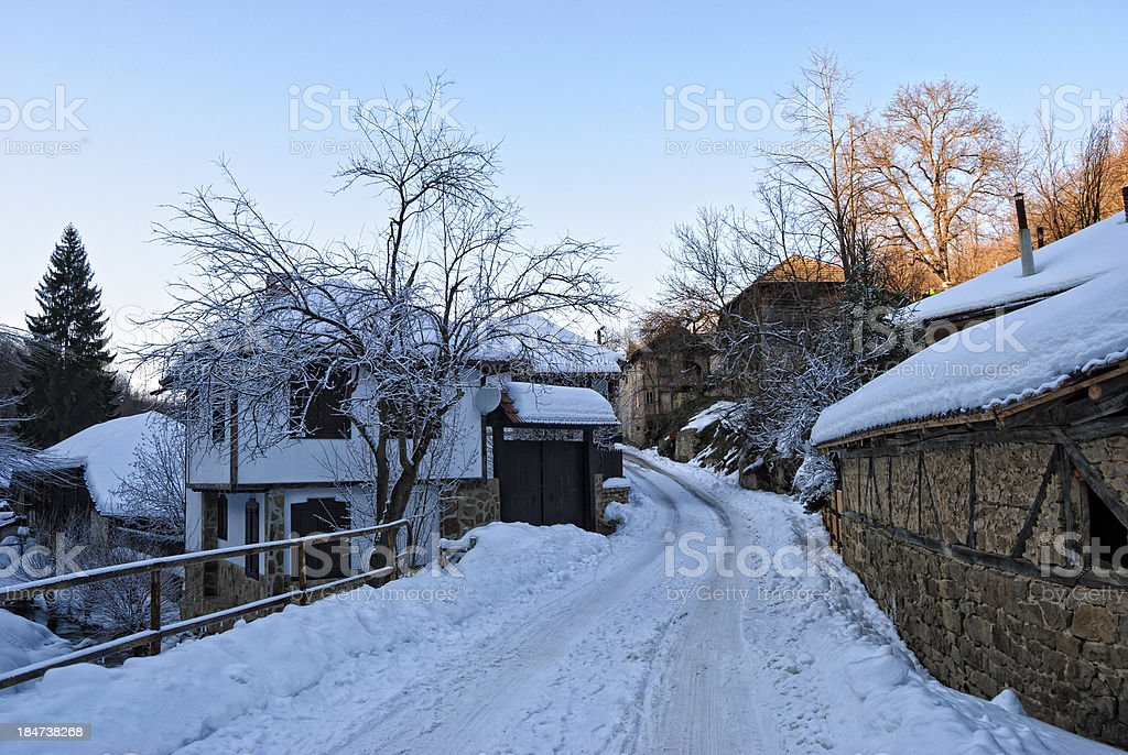 Old houses in Tryavna royalty-free stock photo