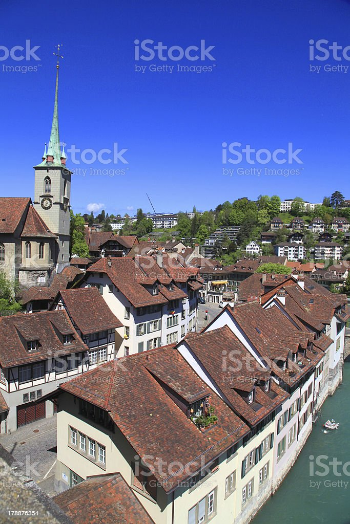 old houses of Bern , Switzerland royalty-free stock photo