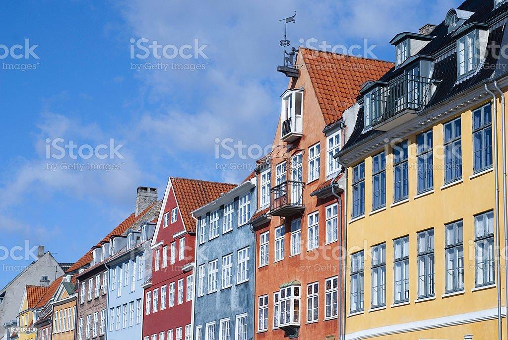 Old houses of Copenhagen (Denmark) stock photo
