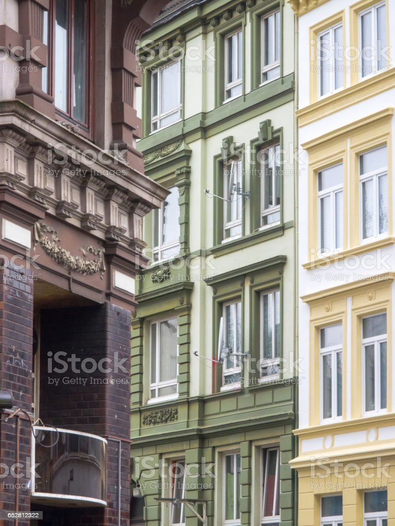 Old houses of district Schanzenviertel, Hamburg, Germany stock photo