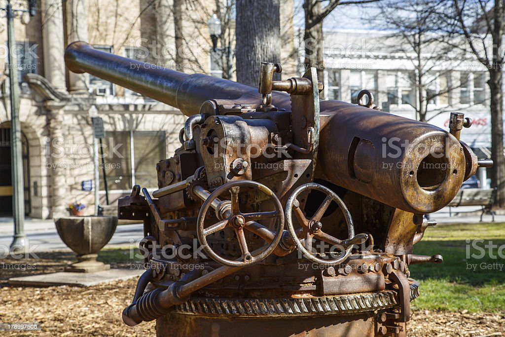Old Howitzer in a Public Park royalty-free stock photo