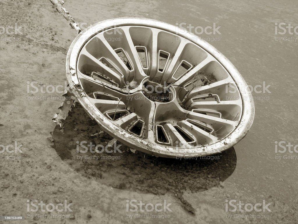 Old Hubcap stock photo