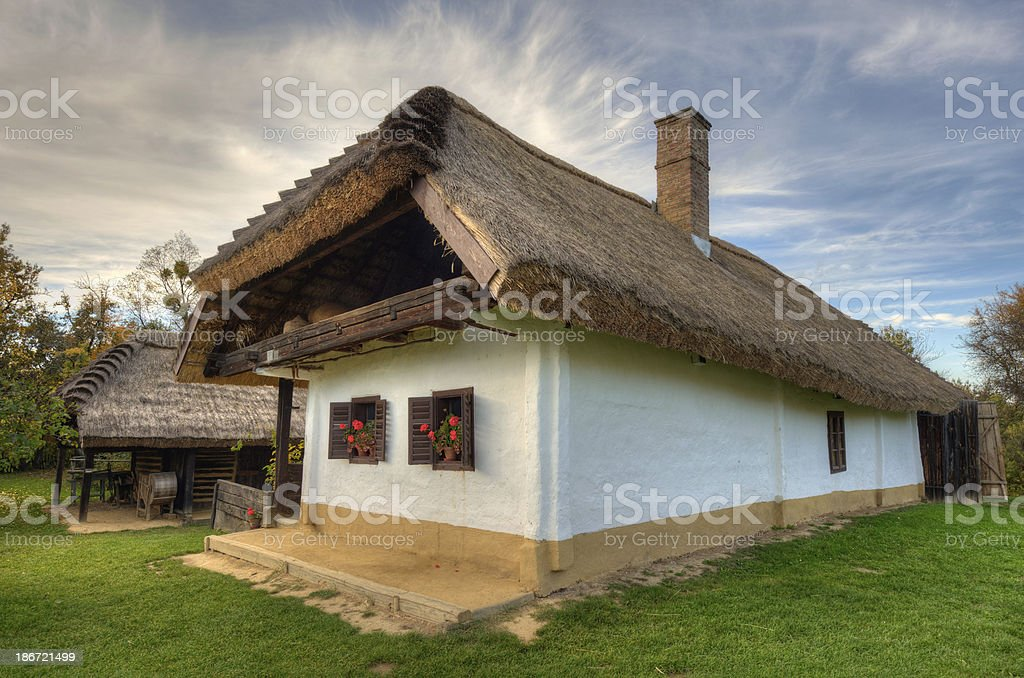 Old hungarian house royalty-free stock photo