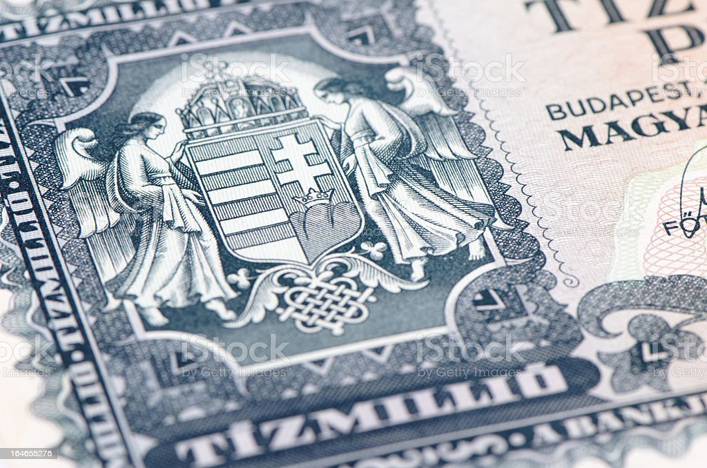 Old Hungary Currency stock photo