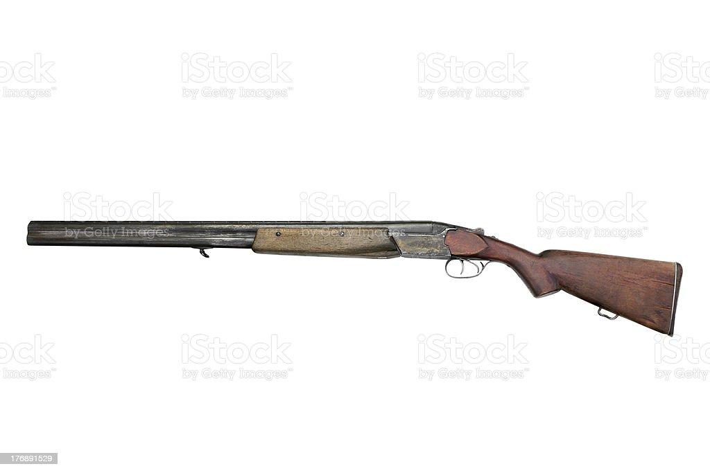 Old hunting gun TOZ-34ER stock photo