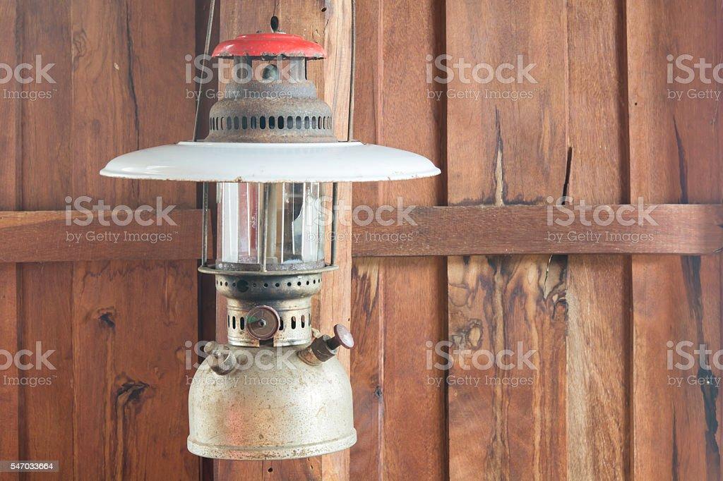 old hurricane lamp hanging stock photo