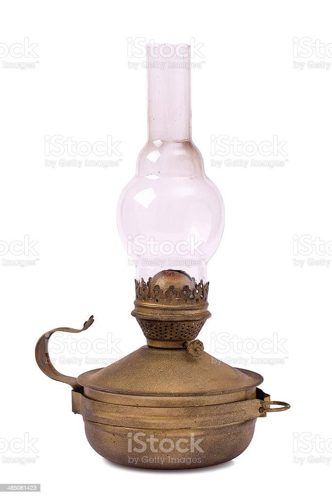 Old hurricane lamp isolated stock photo