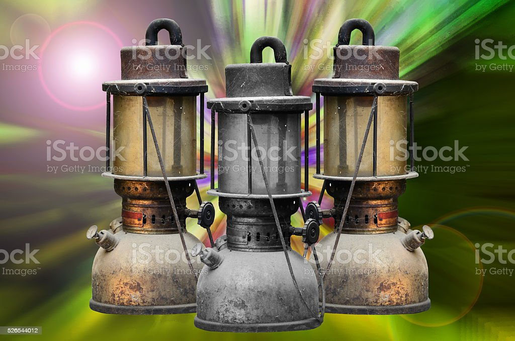 old hurricane lamp stock photo