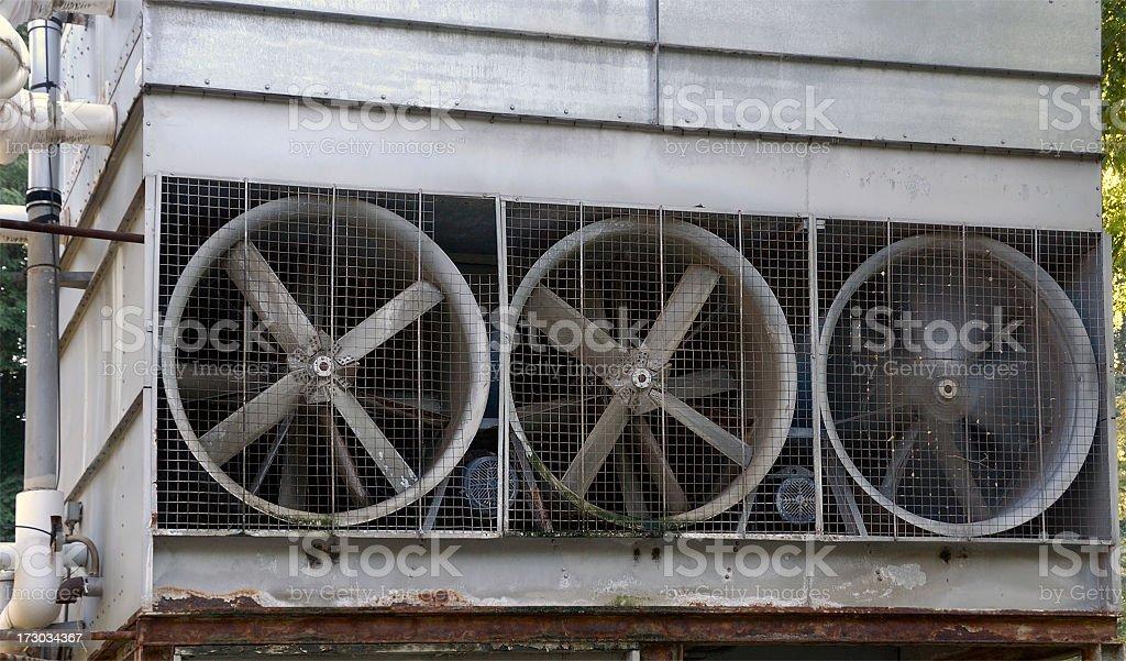 Old HVAC Unit Fans royalty-free stock photo