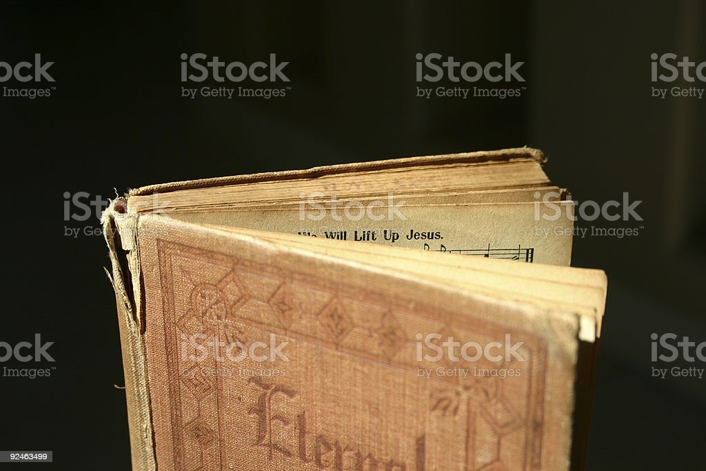 old hymnal royalty-free stock photo