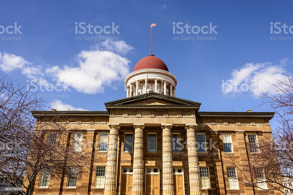 Old Illinois State Capitol stock photo