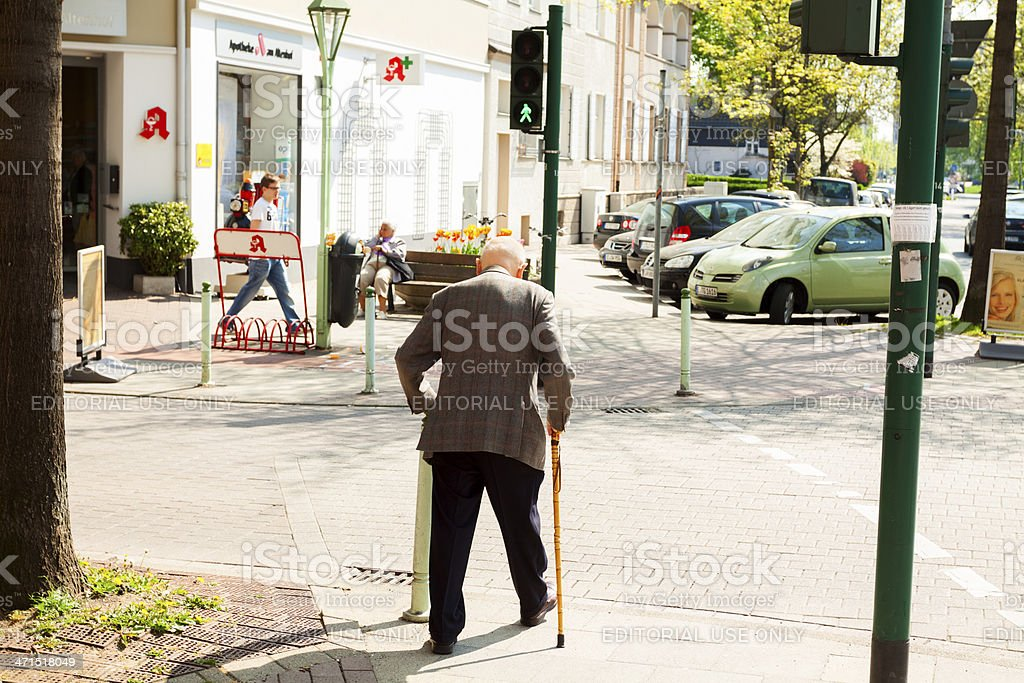 Old in town royalty-free stock photo