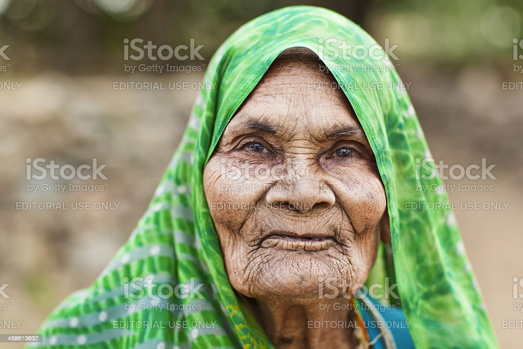 Old Indian Farmer Woman royalty-free stock photo