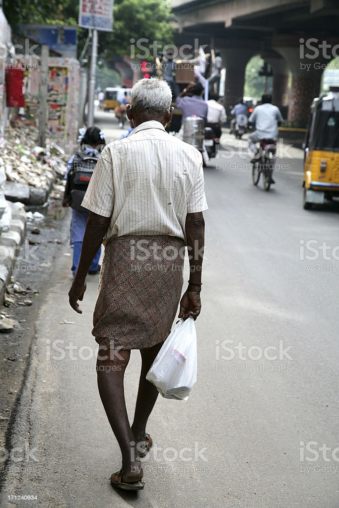 Old indian man stock photo