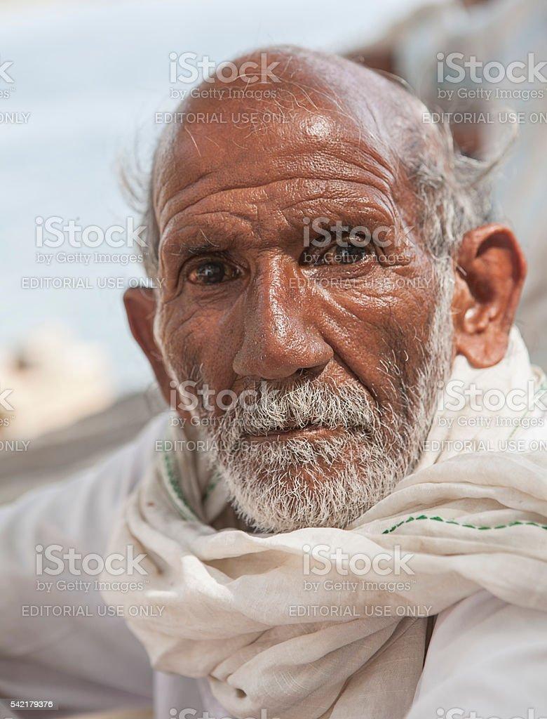 old indian sadhu stock photo
