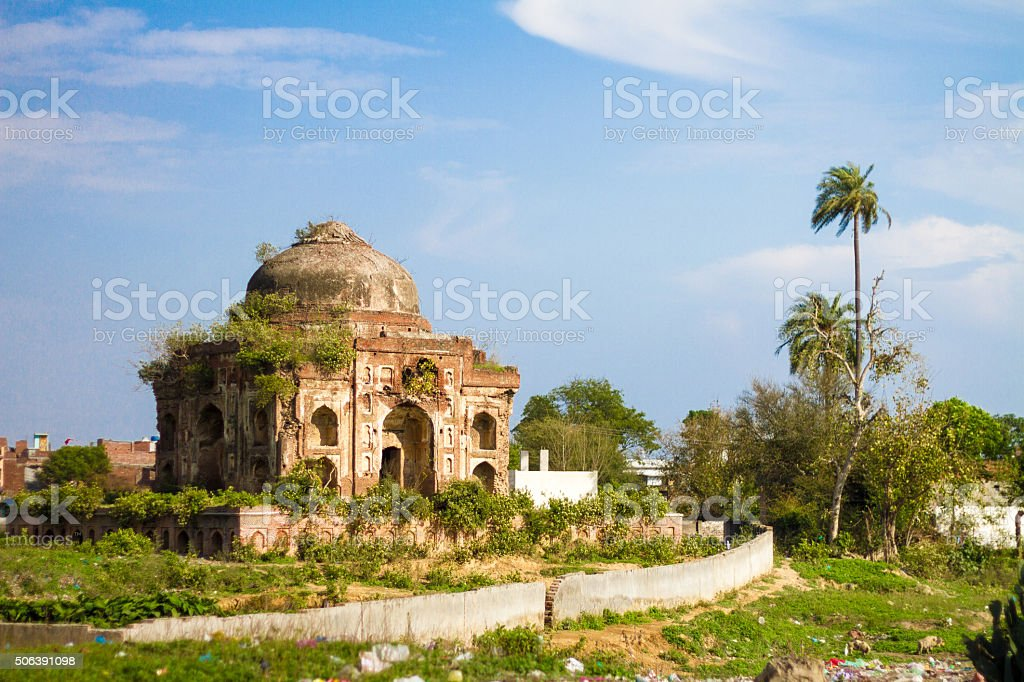 Old Indian Tomb stock photo