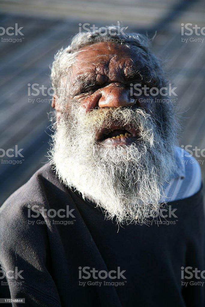 Old indigenous man royalty-free stock photo