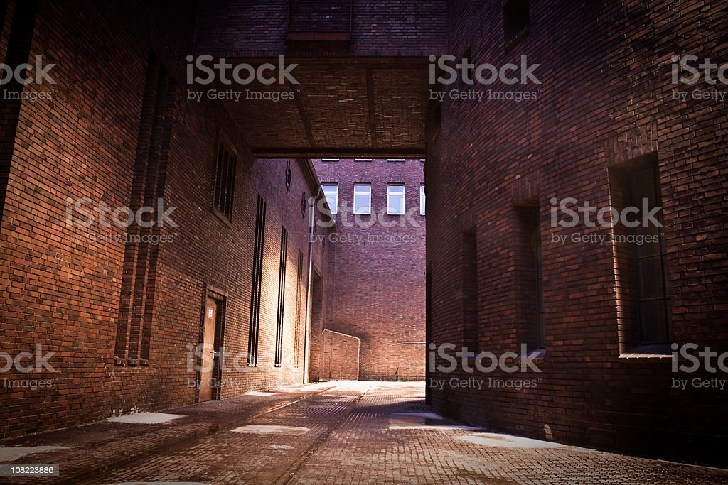 Old Industrial Building in Berlin at Night royalty-free stock photo