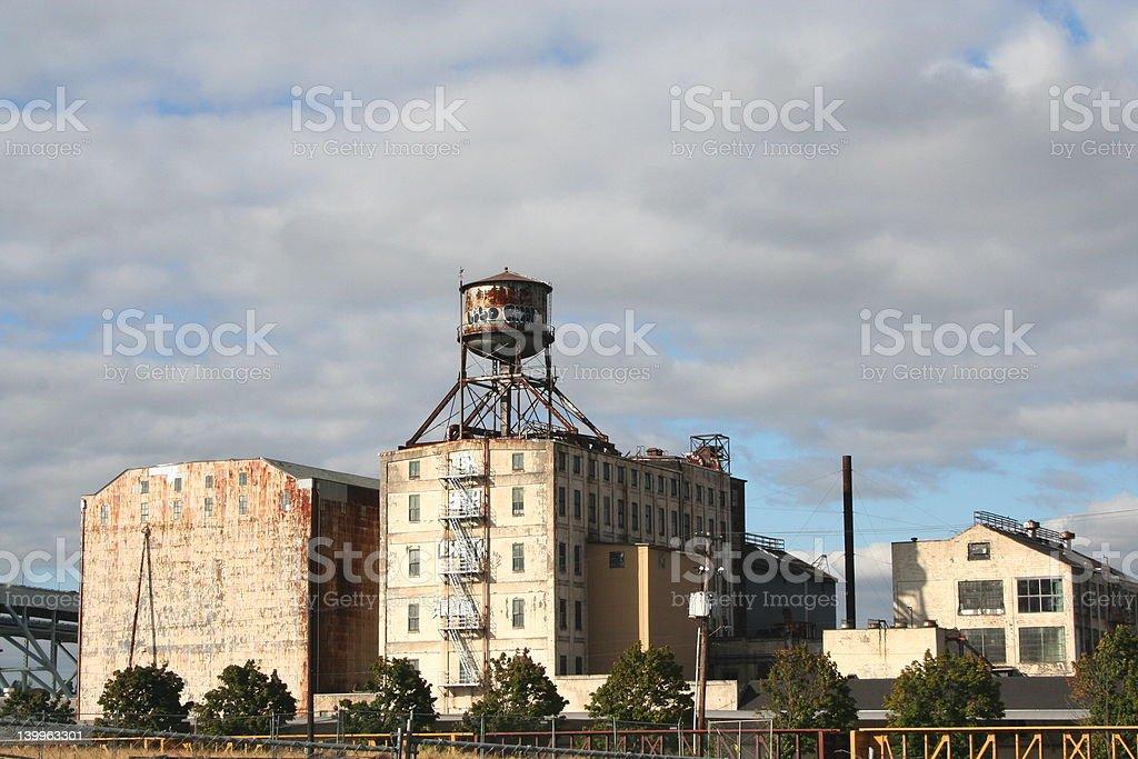 Old industrial building, Portland, Oregon stock photo