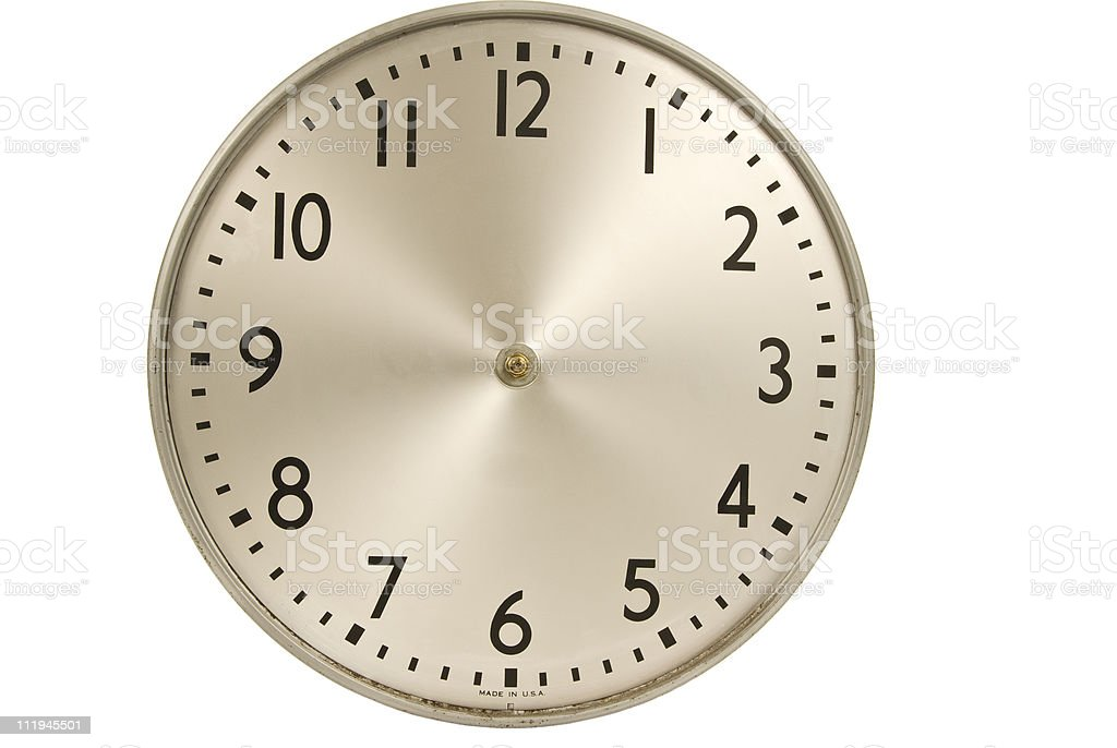 Old Industrial Wall Clock Without Hands royalty-free stock photo