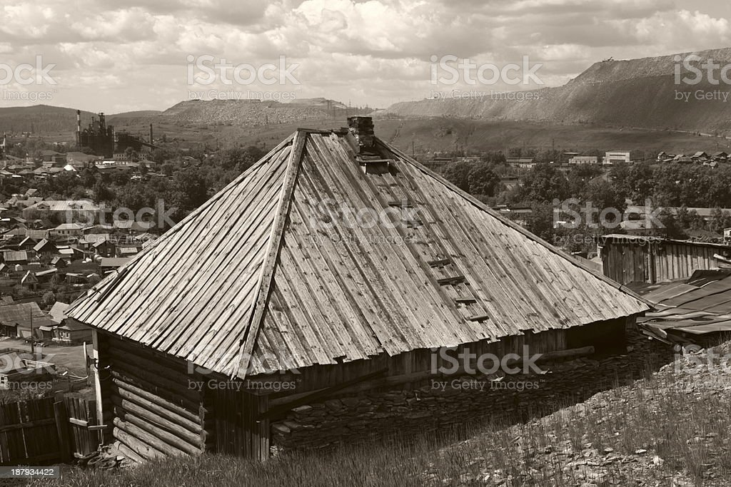 old industry landscape royalty-free stock photo