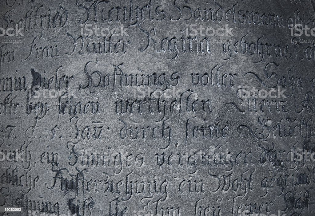 Old Inscription royalty-free stock photo