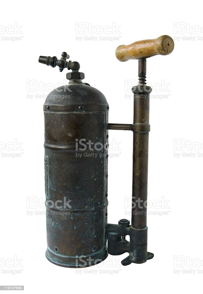 Old insecticide spray royalty-free stock photo