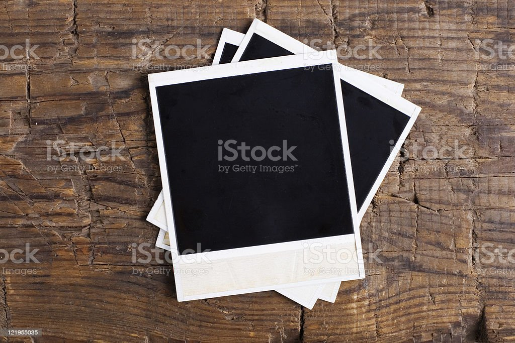 Old instant photos royalty-free stock photo