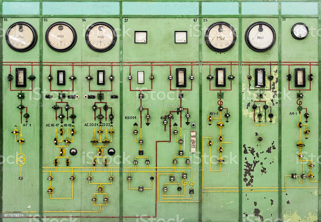 old instrument gauges stock photo