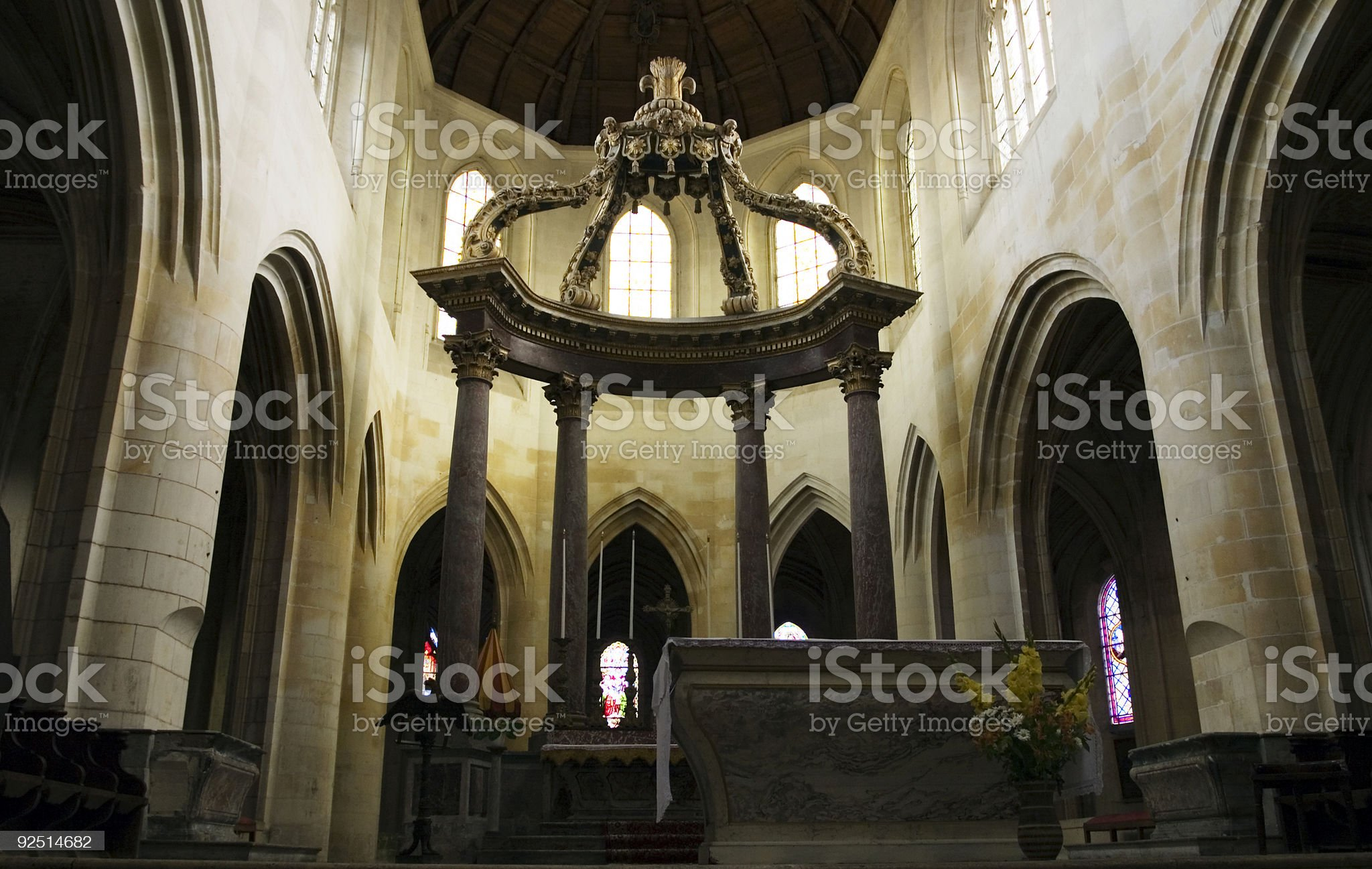 Old interior view royalty-free stock photo