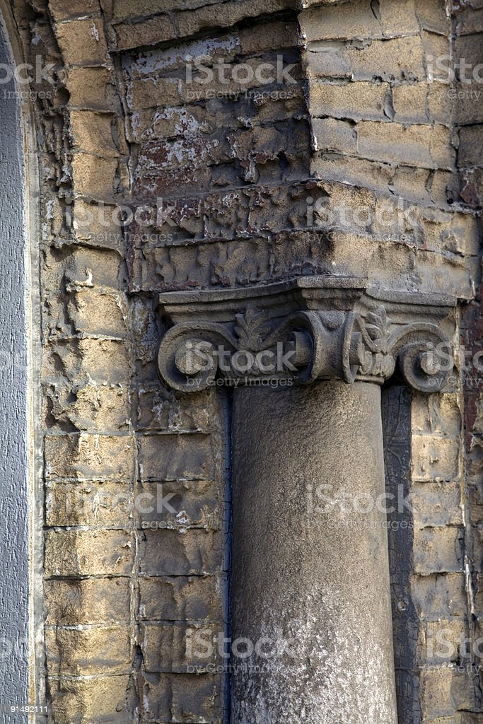 Old Ionic Column royalty-free stock photo