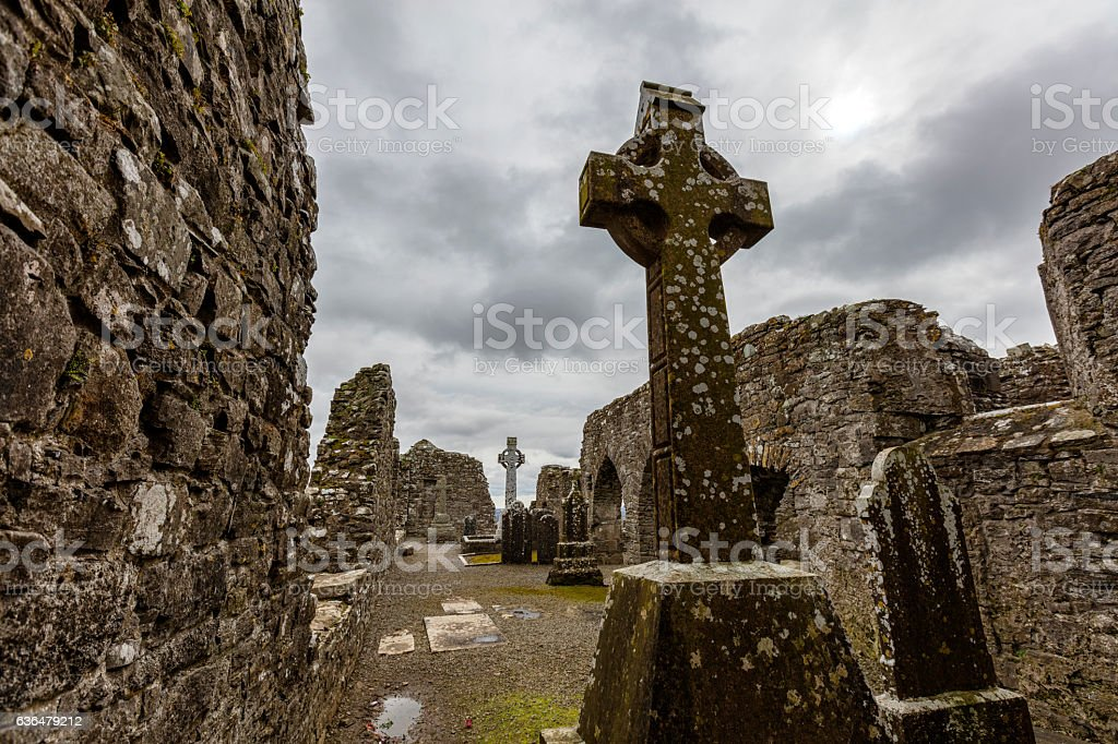 Old Irish Church stock photo