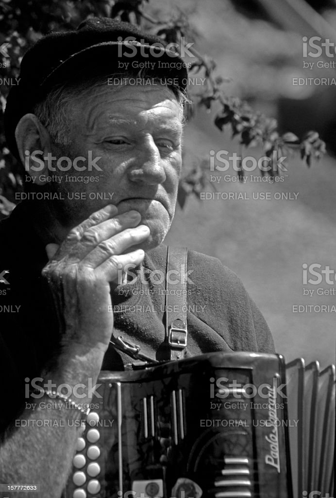 old irish man stock photo