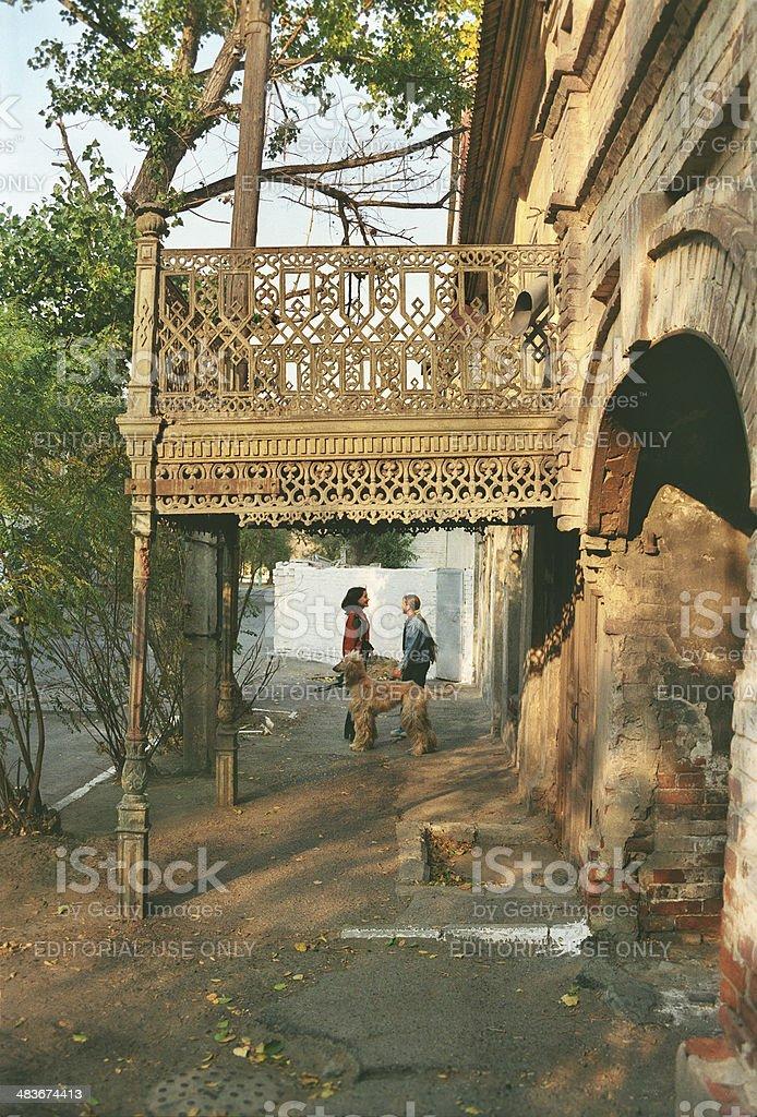 Old iron balcony. royalty-free stock photo