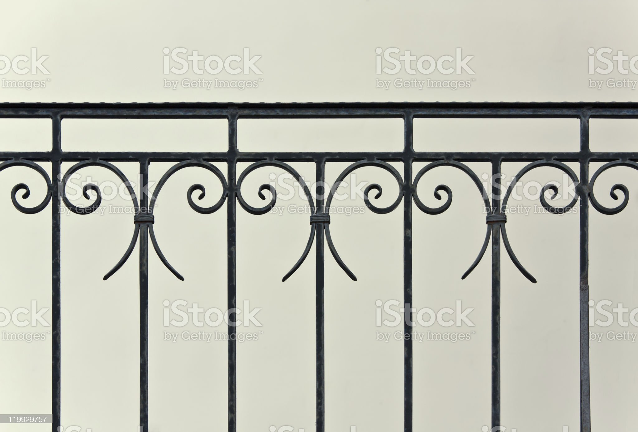 Old iron banister royalty-free stock photo