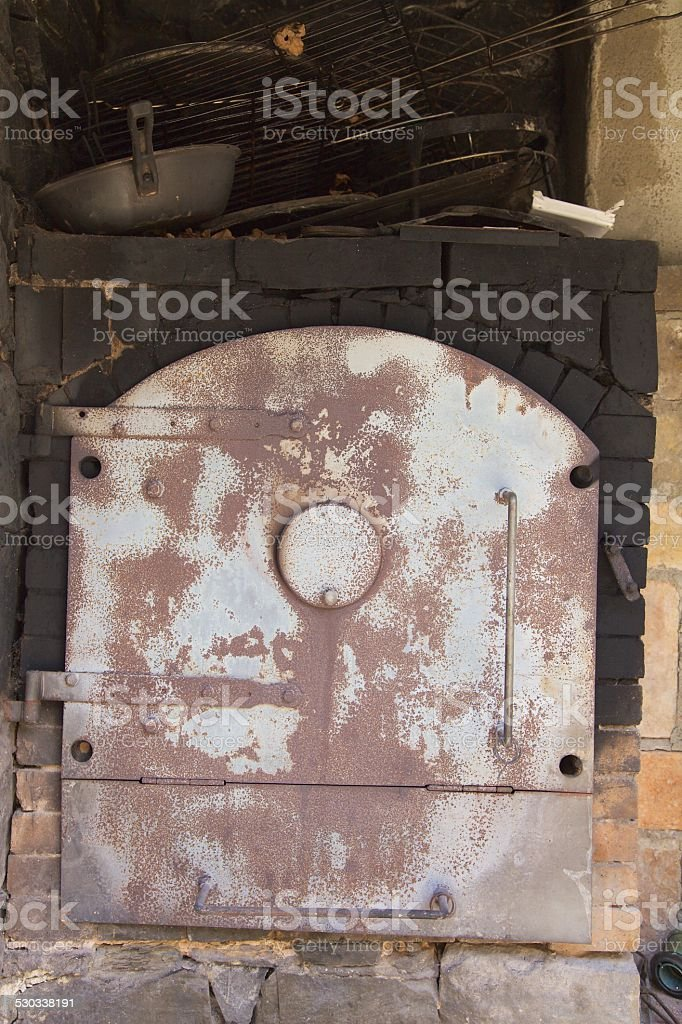 Old Iron Cooking Oven stock photo
